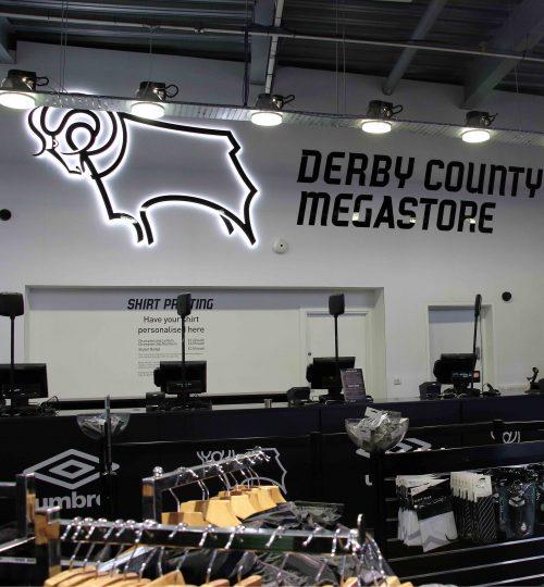 Derby County club shop